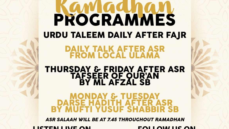Ramadan Programmes