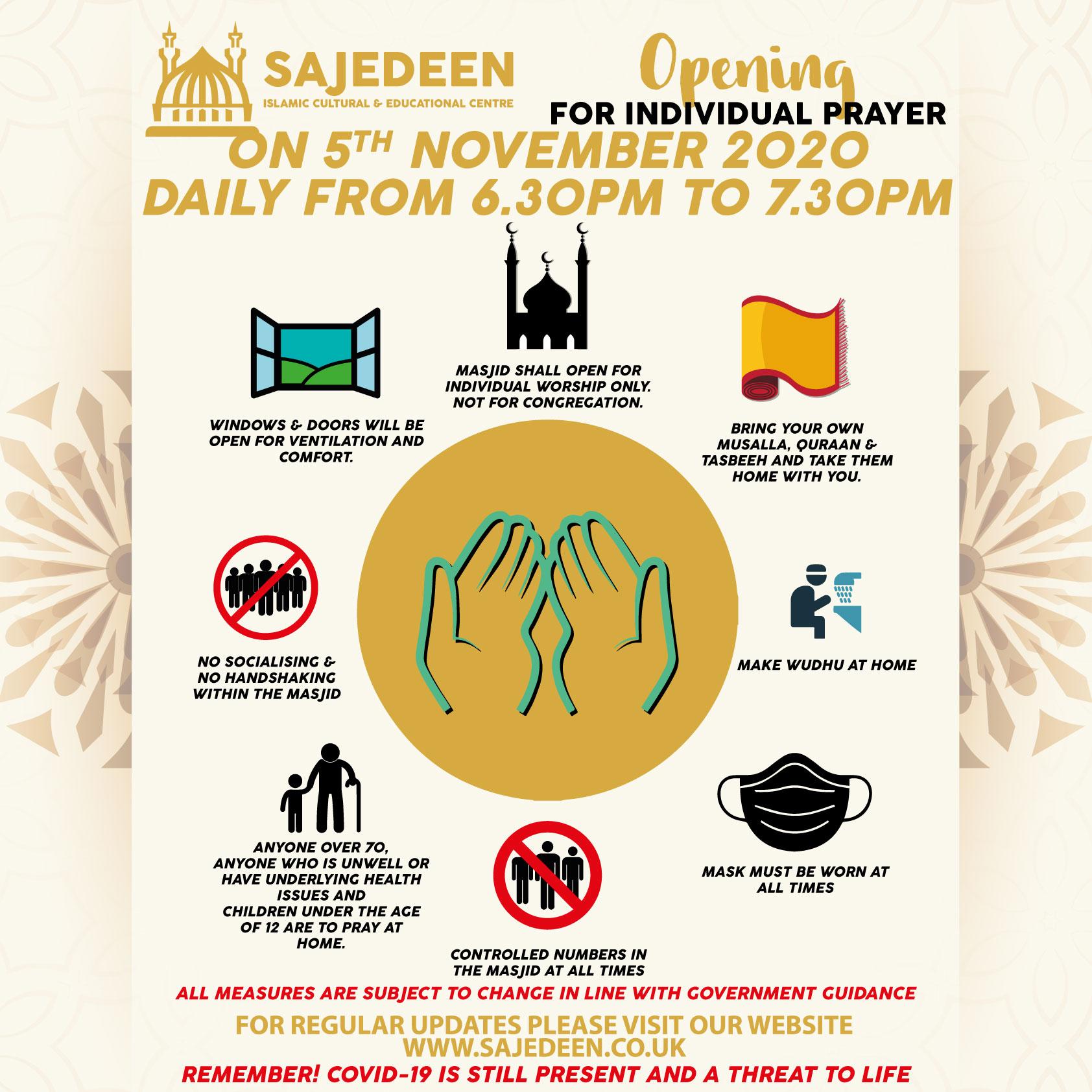 Masjid Opening Nov 2020 Lockdown